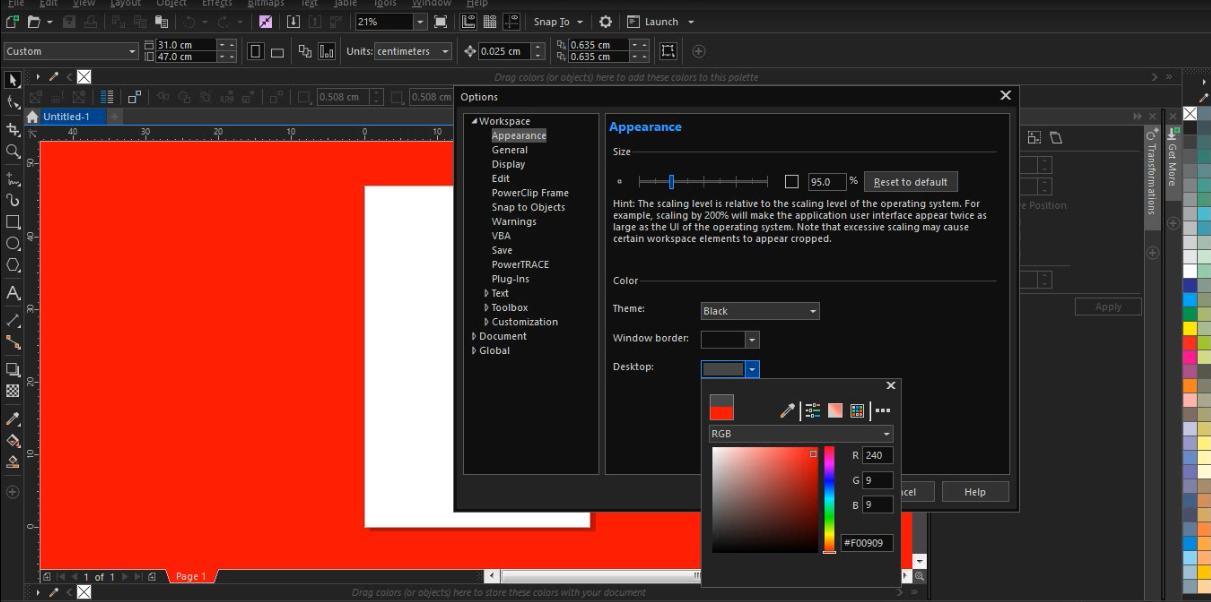 Tips Mudah Mengubah Theme Dark Di Corel Draw Nguprek